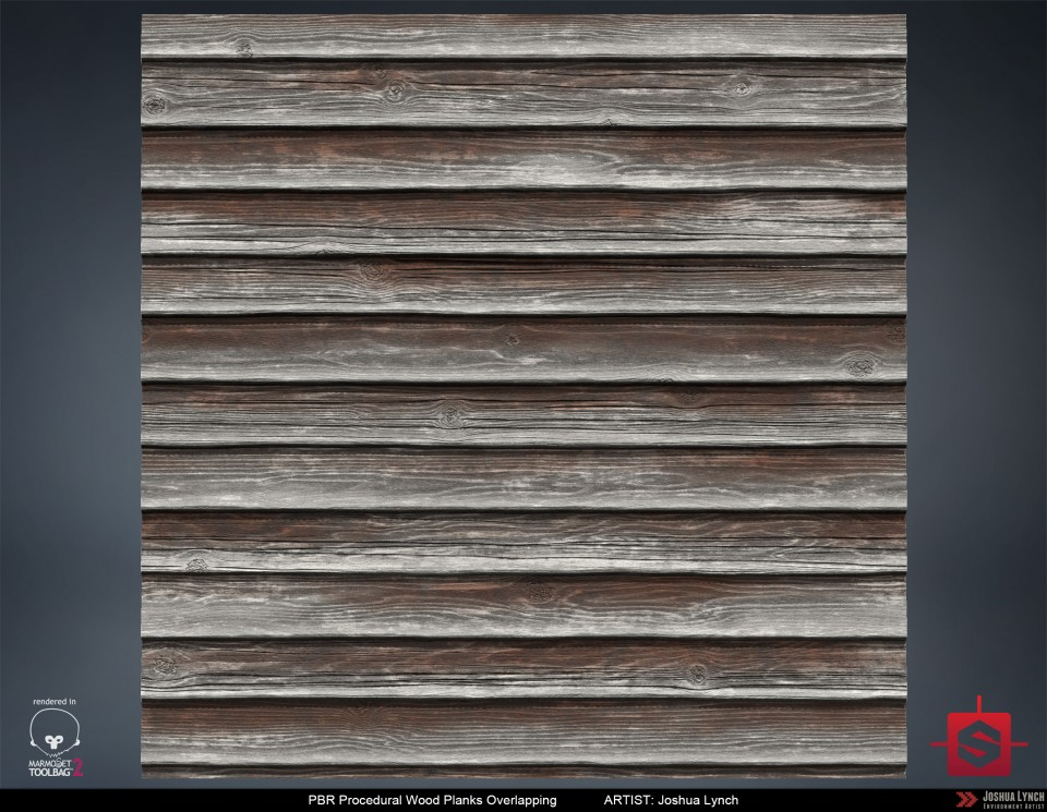 Overlapping Wood Planks